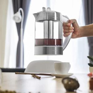 Fierbator cu filtru de ceai  2 in 1 Cecotec ThermoSense 370 Clear, 2200 W, 1.7L, Inox, oprire automata [5]
