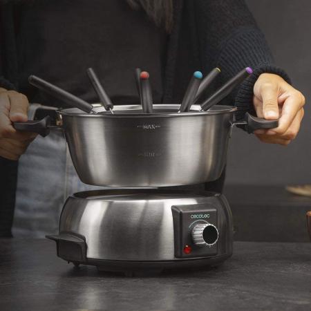 Set fondue electric Cecotec Fun GourmetFondue 1000 W, termostat reglabil ,1.6 litri, 8 furculite [1]