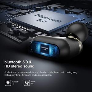 Casti TWS Bluetooth 5.0  True Wireless Blitzwolf BW-FYE7, Dual Dynamic Driver, Bas puternic stereo [4]