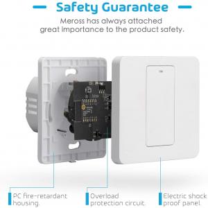 Intrerupator Smart Meross MSS550 WiFi, 2 sensuri2