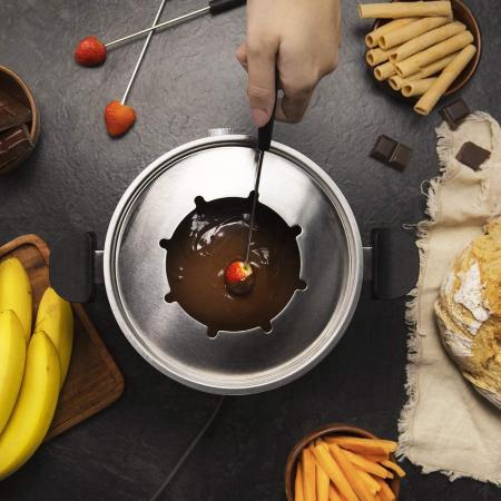 Set fondue electric Cecotec Fun GourmetFondue 1000 W, termostat reglabil ,1.6 litri, 8 furculite [3]