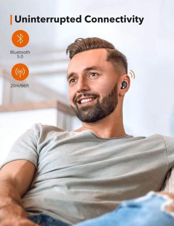 Casti wireless TaoTronics SoundLiberty 79 TWS, sunet puternic si clar,  Smart AI Noise Reduction Technology, 30 ore, IPX8, USB-C [2]