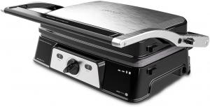 Grill 2 in 1, Rock'nGrill, Cecotec 1500 Take&Clean, 1500W, regulator de putere, piatra antiaderenta, gratar electric si aparat de facut sandvisuri - Resigilat [0]