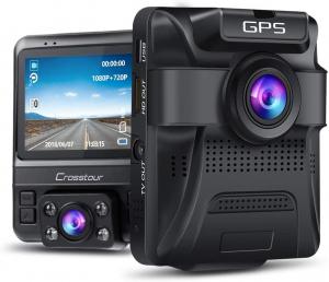 Camera auto DVR Dubla Crosstour CR750, GPS, Full HD,  Bord si Interior, Unghi 170 grade, Night Vision, WDR, G-Sensor, Mod parcare, Filmare in bucla [0]