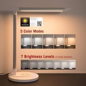 Lampa LED de birou TaoTronics TT-DL043, cu incarcator wireless, control touch, USB, 12W, 410 lm3