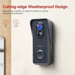Sonerie Smart Victure VD300 Camera Wireless, 1080P HD, Motion Detection, Cnnvorbire bidirectionala, Wi-Fi Connected, Uunhi larg, Control aplicatie7