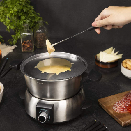 Set fondue electric Cecotec Fun GourmetFondue 1000 W, termostat reglabil ,1.6 litri, 8 furculite [5]