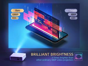 Videoproiector VANKYO Performance V630, 6000 Lumeni, Native 1080p, LED, HDMI, VGA, AV, USB, Geanta de transport, Telecomanda, Cablu HDMI [8]