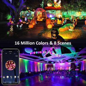 Set 2 proiectoare de podea LED RGB Novostella, Smart, Wifi, Alexa,Google , 20W, Exterior IP66 waterproof [9]