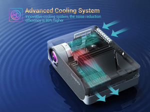 Videoproiector VANKYO Performance V630, 6000 Lumeni, Native 1080p, LED, HDMI, VGA, AV, USB, Geanta de transport, Telecomanda, Cablu HDMI [1]