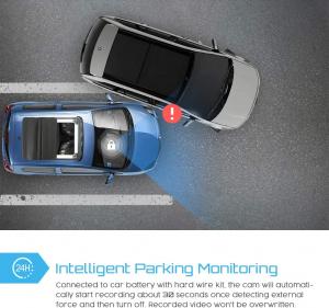 Camera auto DVR Dubla Crosstour CR750, GPS, Full HD,  Bord si Interior, Unghi 170 grade, Night Vision, WDR, G-Sensor, Mod parcare, Filmare in bucla [4]