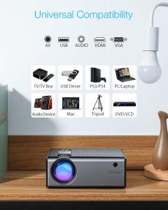 Videoproiector BlitzWolf BW-VP1, 2800 Lumens, Native 720p, LED, HDMI, VGA, AV, USB7