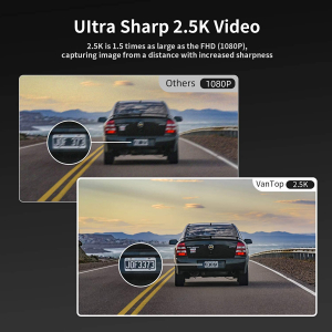 "Camera auto DVR Dubla Oglinda VanTop H610, 2.5K, Bord si Spate, Touch-Screen, Unghi 160 grade, Senzor Sony IMX 335, G Senzor, Display 10"" IPS4"