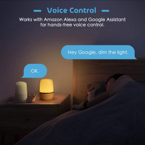 Lampa de VegheSmart Meross MSL420 WiFi, Control iluminare si culoare4