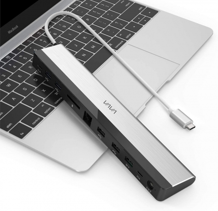 Adaptor 10 porturi Docking Station VAVA VA-DK002, Ethernet, SD Card, USB, QC, PD, pentru MacBook Pro si USBC [2]
