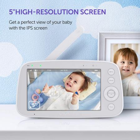 Baby Monitor Video pentru bebelusi VAVA VA-IH006, Display 5 inch, Raza 300 m, 720P, Night Vision, Alarma, Temperatura, Unghi larg, Zomm, Control directional4