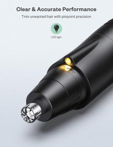 Trimmer pentru nas/urechi Anjou AJ-FS005, Cap detasabil si lavabil, Lumina LED, Baterii, Negru [6]