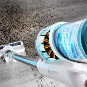 Aspirator vertical cu acumulatori 3 in 1 Cecotec Conga RockStar 100 Vital, acumulator 25.9 V, 2.5Ah, Li-Ion, Accesorii spatii inguste si tapiterie, autonomie 50 min4