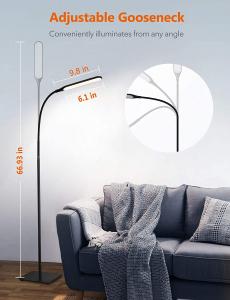 Lampa de podea LED TaoTronics TT-DL072, ajustabile 4 culori de culoare, 4 niveluri de luminozitate [6]