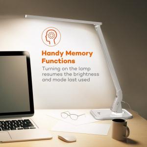 Lampa de birou LED TaoTronics TT DL02 control Touch, 4 moduri, 14W, USB - Alba7
