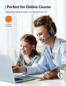 Casti wifi TaoTronics TT-BH041, Microfon, AI Noise Cancelling, Call Center, Bluetooth 5.0, functionare 34 ore1
