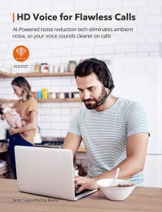 Casti wifi TaoTronics TT-BH041, Microfon, AI Noise Cancelling, Call Center, Bluetooth 5.0, functionare 34 ore6