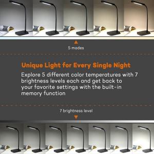 Lampa de birou LED TaoTronics TT-DL11 control Touch, 5 moduri, protectie ochi, 7W8