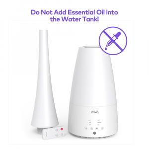 Umidificator de aer cu ultrasunete VAVA 3L, Telecomanda, 280ml/h, Silentios,  3 trepete putere, 25W [8]