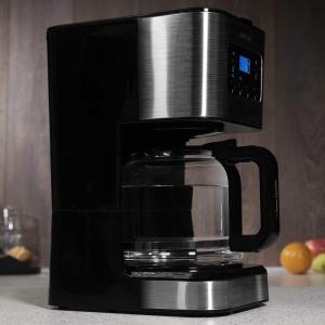 Cafetiera cu Filtru , CECOTEC 1555, 950W, 1.5 L, Cana Sticla, Timmer Programabil, mentine cafeaua fierbinte, Argintiu Negru [2]