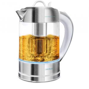 Fierbator cu filtru de ceai  2 in 1 Cecotec ThermoSense 370 Clear, 2200 W, 1.7L, Inox, oprire automata [0]