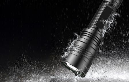 Lanterna SupFire C8-H, 15W, LED, 1500 lm, 4000 mAh, 5 moduri, rezistenta la apa, incarcare USB, Negru [1]