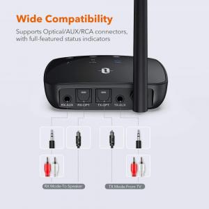 Adaptor Bluetooth Transmitator si Receptor Audio TaoTronics TT-BA014, Bluetooth 5.0, Cablu Optic & Jack 3.5mm, conectare 2 casti, aptX HD, 50m2