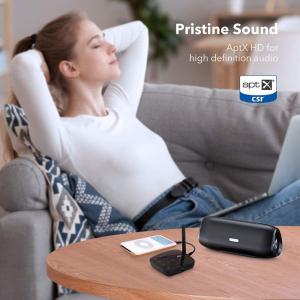 Adaptor Bluetooth Transmitator si Receptor Audio TaoTronics TT-BA014, Bluetooth 5.0, Cablu Optic & Jack 3.5mm, conectare 2 casti, aptX HD, 50m7