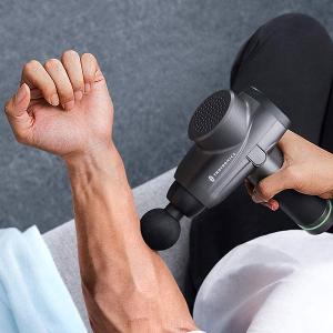 Aparat de masaj Gun Profesional TaoTronics TT-PCA003, 6 capete interschimbabile, 10  trepte de viteza8
