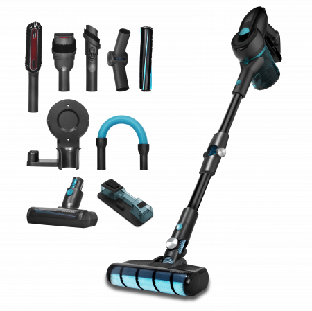 Aspirator vertical Cecotec Conga RockStar 700 Ultimate ErgoWet 4 in 1, 25.9V, autonomie 65 min, flexibil, putere aspirare 24 KPA, tehnologie ciclonica, functie mop, accesorii incluse0