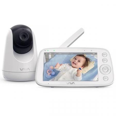 Baby Monitor Video pentru bebelusi VAVA VA-IH006, Display 5 inch, Raza 300 m, 720P, Night Vision, Alarma, Temperatura, Unghi larg, Zomm, Control directional0