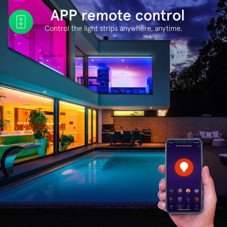 Banda LED Smart Nous F1 WiFi, 5 metri, Control APP [8]