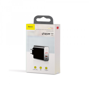 Baseus Incarcatorperete PPS QC USB + PD 45W - Negru6