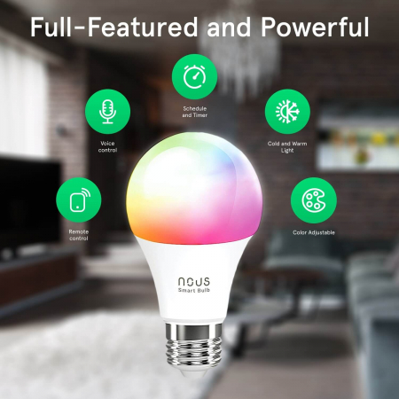 Bec LED RGB Smart NOUS P3, E27, Control din aplicatie2