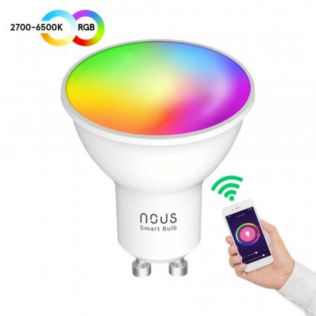 Bec LED RGB Smart NOUS P8, GU10, Control din aplicatie [1]