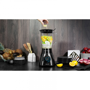 Blender Cecotec Power Black Titanium 1800 Smart, 1800 W, Zdrobire gheata, Bol sticla, Filtru pentru sucuri, 22000-rpm [8]