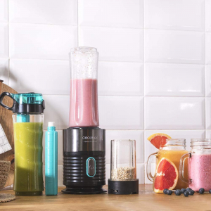 Blender Smoothie 2 in 1 Cecotec Power Titanium 650 Fresh&Go Inox, 650W, 2 recipiente portabile, 1 recipient rasnita3