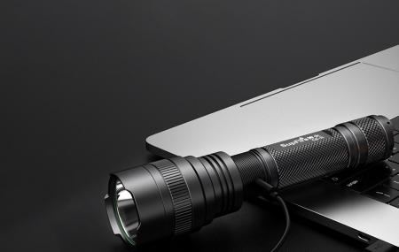 Lanterna SupFire C8-H, 15W, LED, 1500 lm, 4000 mAh, 5 moduri, rezistenta la apa, incarcare USB, Negru [3]