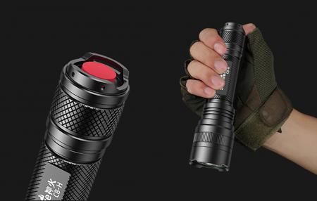 Lanterna SupFire C8-H, 15W, LED, 1500 lm, 4000 mAh, 5 moduri, rezistenta la apa, incarcare USB, Negru [2]