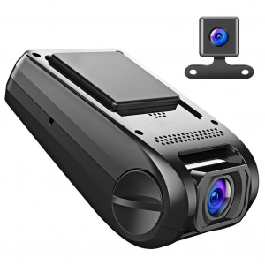 Camera auto DVR  Dubla Apeman C550, Full HD,  Bord si Spate, Unghi 170 grade, Detector miscare, WDR, G-Sensor, Mod parcare, Filmare in bucla [1]