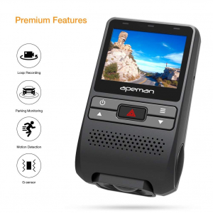 Camera auto DVR  Dubla Apeman C550, Full HD,  Bord si Spate, Unghi 170 grade, Detector miscare, WDR, G-Sensor, Mod parcare, Filmare in bucla [9]