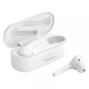 Casti audio In-Ear Baseus W07, True Wireless, Bluetooth 5.0,  TWS, alb0