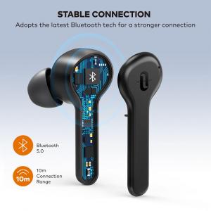 Casti audio In-Ear Taotronics TT-BH1001, True Wireless, Bluetooth 5.0, TWS  USB-C2