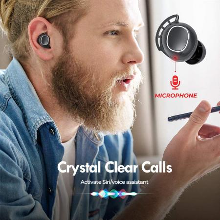 Casti audio In-Ear Mpow M30 TWS, Bas Clar, IPX8, 25 ore, USB-C, True Wireless, Bluetooth 5.0, TWS [8]