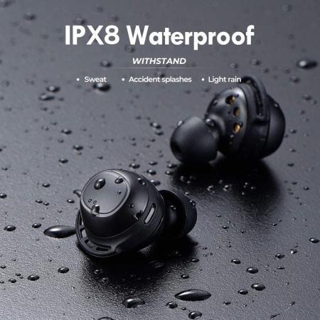 Casti audio In-Ear Mpow M30 TWS, Bas Clar, IPX8, 25 ore, USB-C, True Wireless, Bluetooth 5.0, TWS [6]